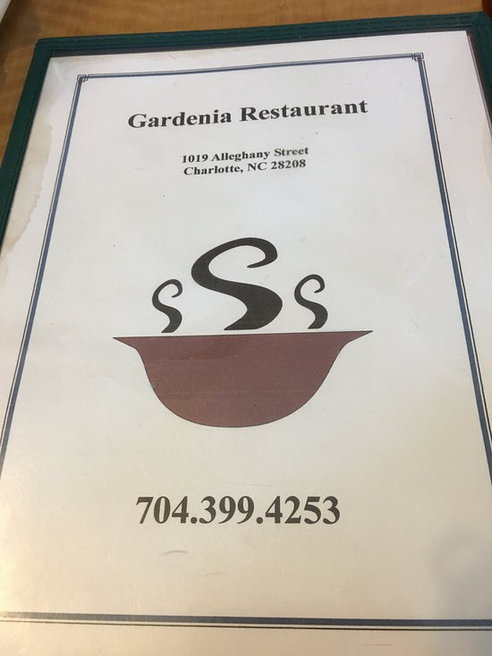 Gardenia Restaurant Menu Charlotte North Carolina