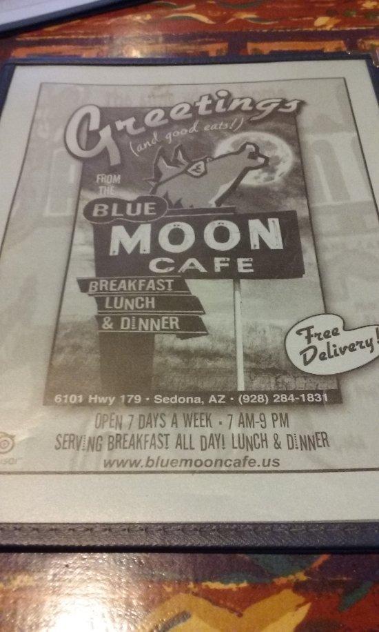 Blue Moon Cafe Sedona Az Menu