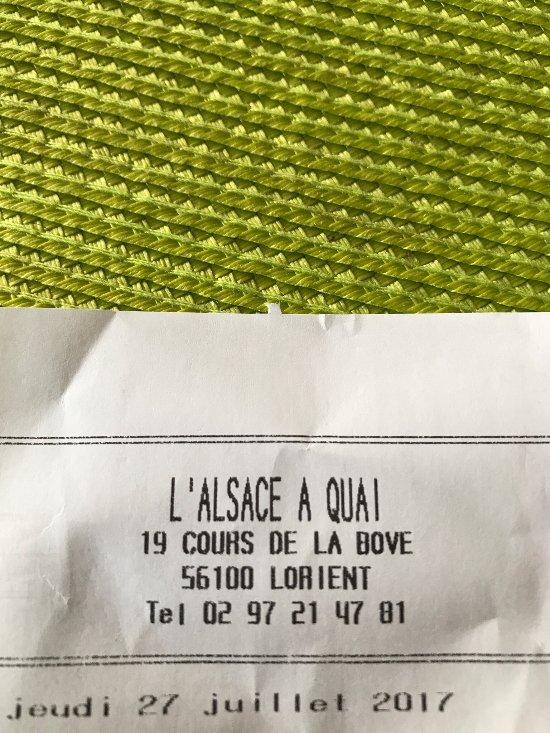 L 39 alsace quai lorient restaurant avis num ro de t l phone photos tripadvisor - Cours de cuisine lorient ...