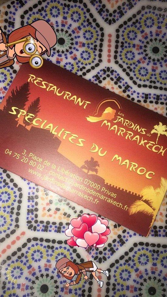 Les jardins de marrakech privas restaurantanmeldelser - Les jardins de marrakech ...