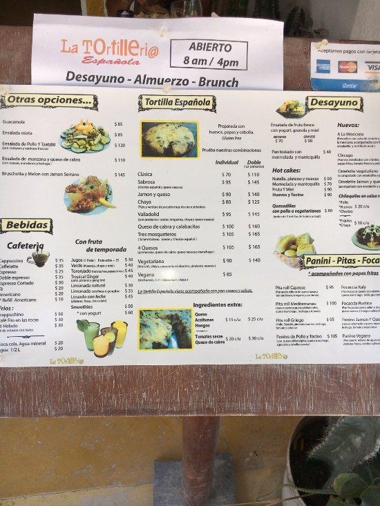 Holbox Island Restaurants Menu