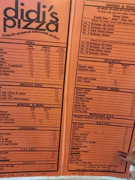 Didi S Pizza Angeles City Restaurant Reviews Phone