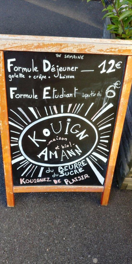 Kouign amann fait maison, servi tiède et croustillant...si vous n'avez plus faim emportez le !!!