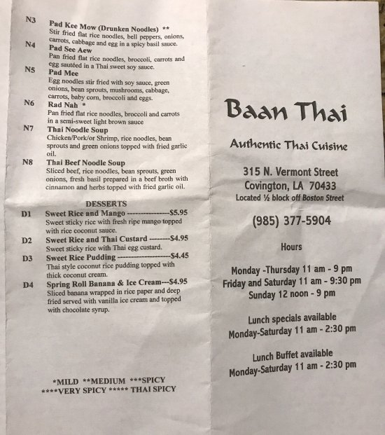 Thai Restaurant Covington Louisiana
