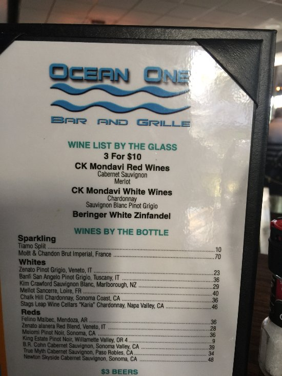 Ocean One Bar And Grille Delray Beach Restaurant