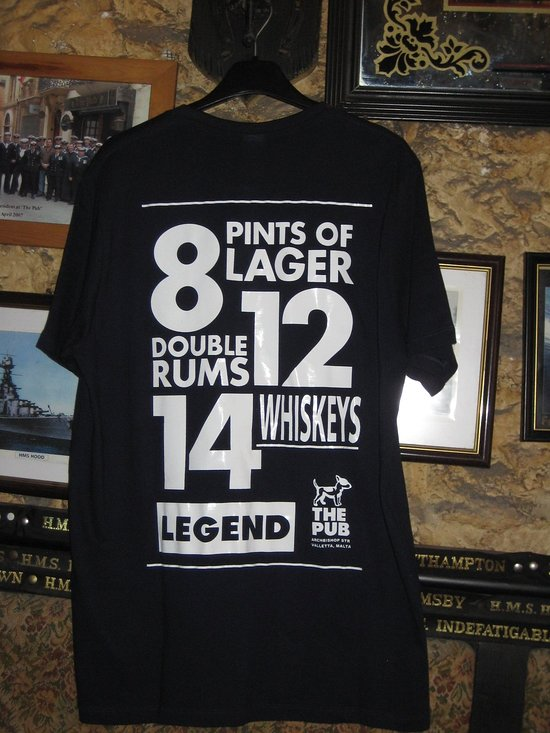 Oliver Reed S Last Session T Shirt Picture Of The Pub Island Of Malta Tripadvisor