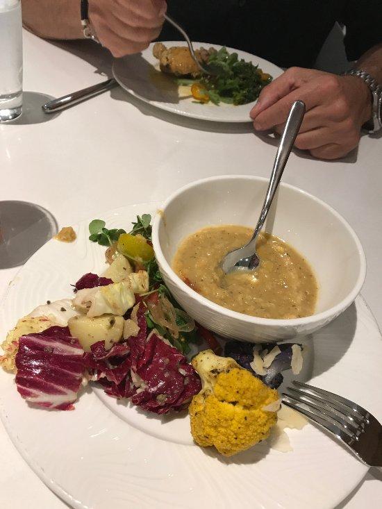 Lentil Stew, Salad