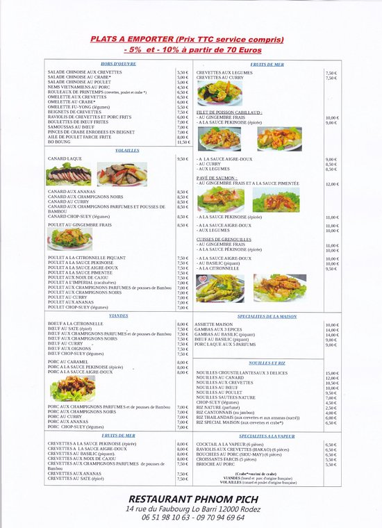 Restaurant Rodez Asiatique