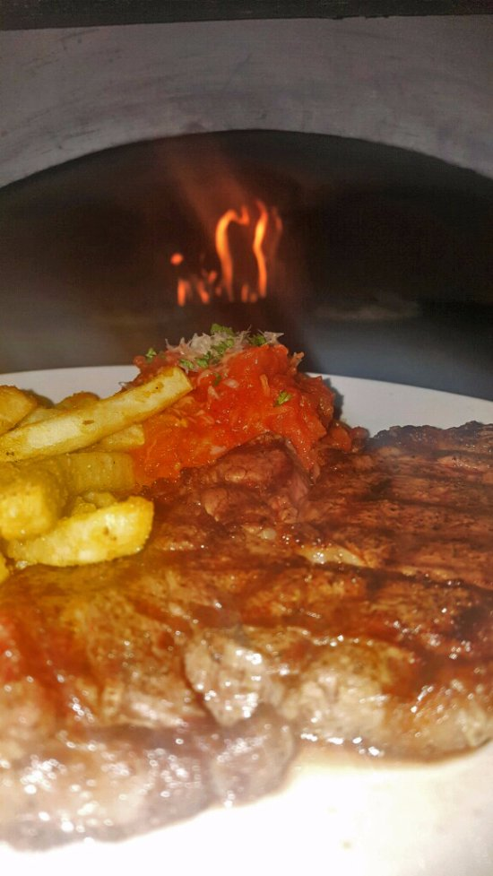 8 oz. Ribeye with fresh Spaghetti Squash made with Grandma B's sauce and your choice of fry