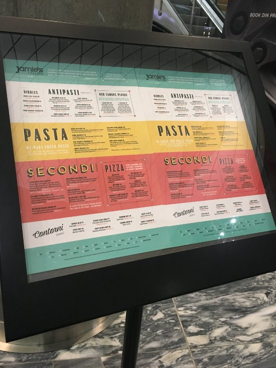 Our menu is waiting for you at the bottom of the escalators, take a trip up to the restaurant.
