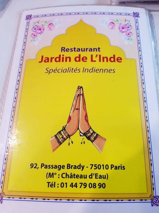 Jardin de l 39 inde paris ch teau d 39 eau gare du nord for Restaurant jardin 92