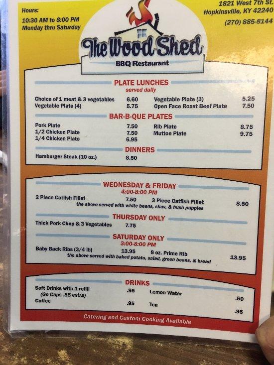 Woodshed Pit Bar B Que Amp Restaurant Hopkinsville