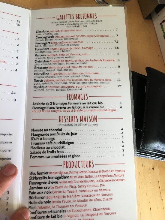 Aux Plaisirs Du Vercors Vassieux En Vercors Restaurant Reviews