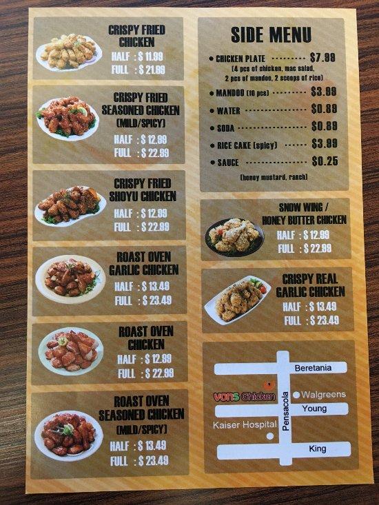vons chicken honolulu restaurant reviews phone number photos