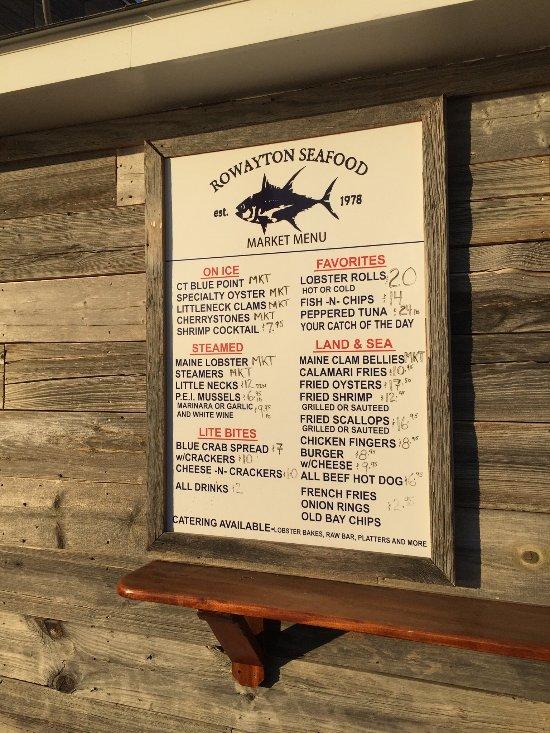 The Restaurant At Rowayton Seafood Norwalk Ct Menu