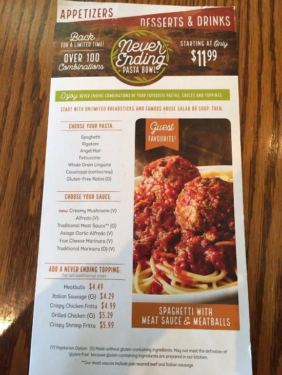 Olive Garden Winnipeg 1544 Portage Ave Menu Prices Restaurant Reviews Tripadvisor