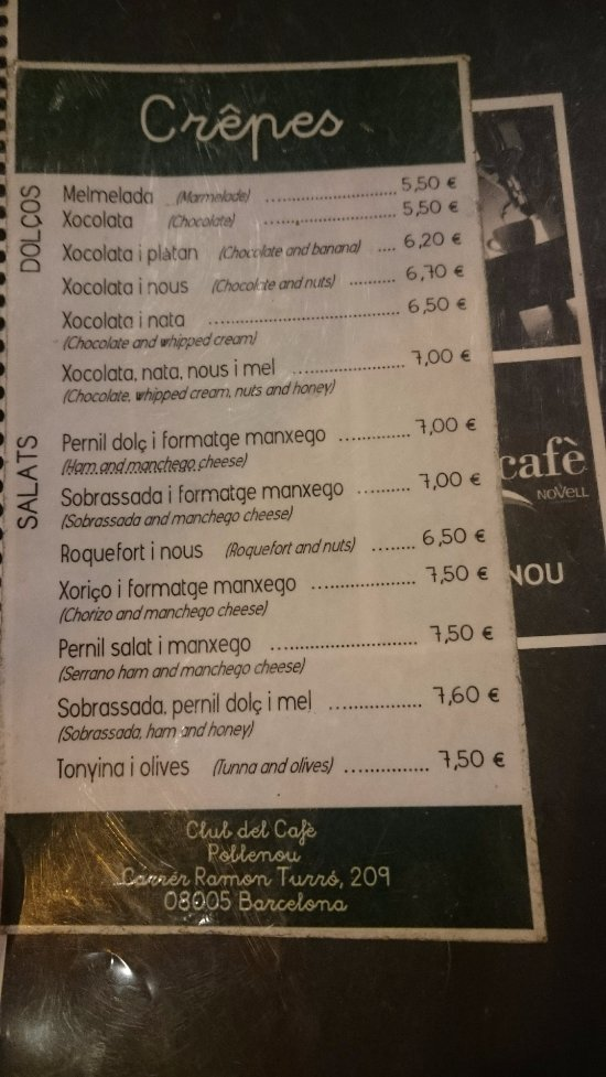 Club del Cafe Novell Barcelona Ramon