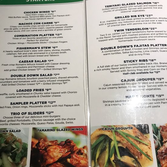 Double Down Sportsbar Grill Oranjestad Restaurant Reviews