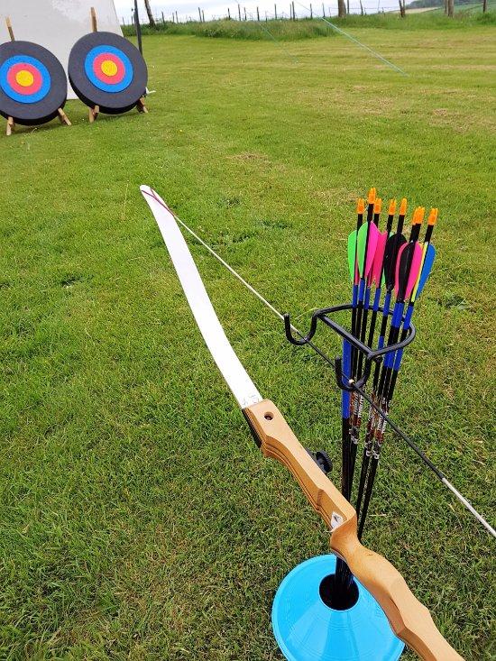 Archery in the beautiful North Devon countryside.