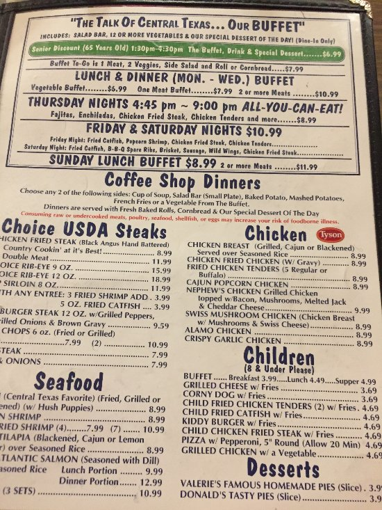 Coffee Shop Cafe, McGregor - Menu, Prices & Restaurant ...
