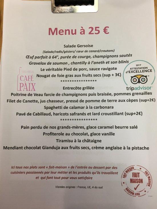 Restaurant Cafe De La Paix Saint Chinian