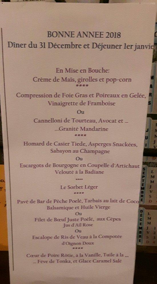 Menu Restaurant De La Foret Montgresin