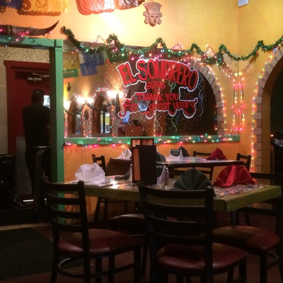 El Sombrero Mexican Restaurant Southington Menu Prices