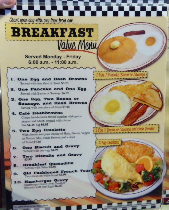 Country Cafe Ridgefield Washington Menu