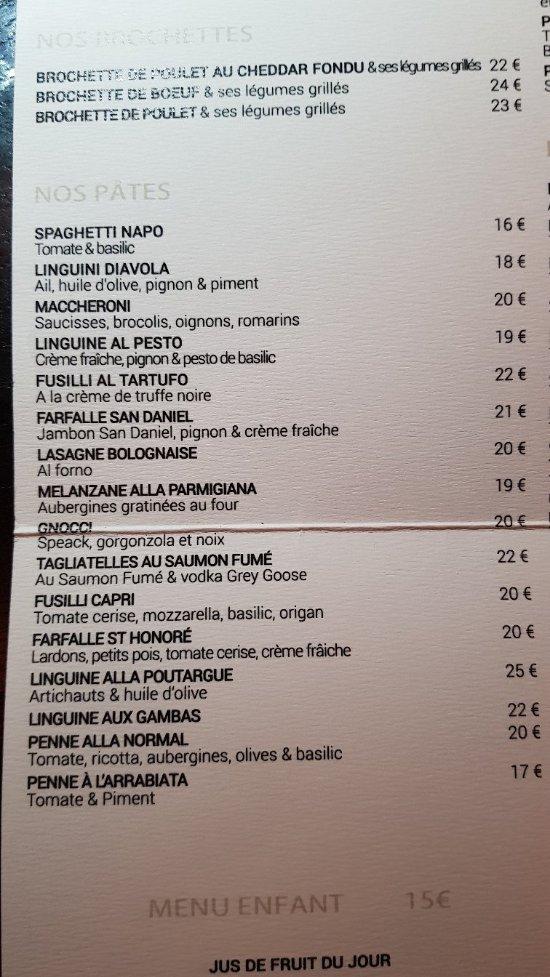 Capri Restaurant Saint Honore