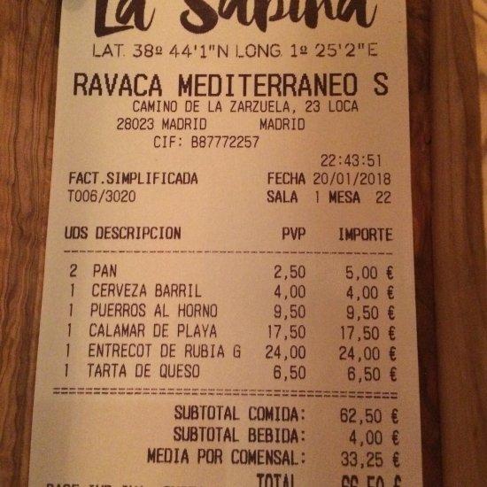 imagen La Sabina en Madrid