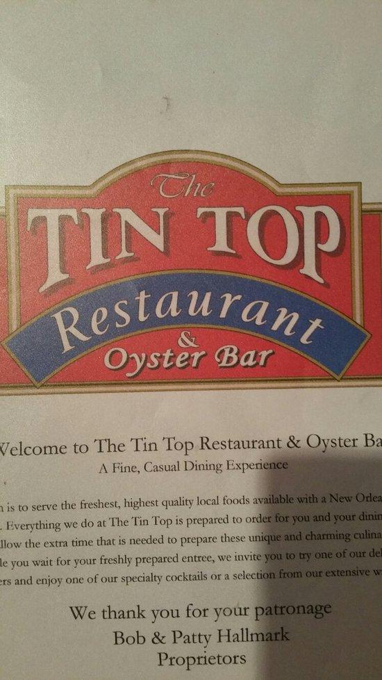 Tin Top Restaurant Bon Secour Alabama