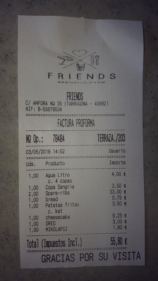Bar Restaurant Friends, Mont-roig del Camp - Restaurantbeoordelingen ...