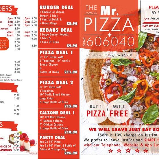 Mr Pizza Leigh Menu Prices Restaurant Reviews