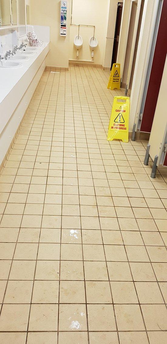 Men's toilet block