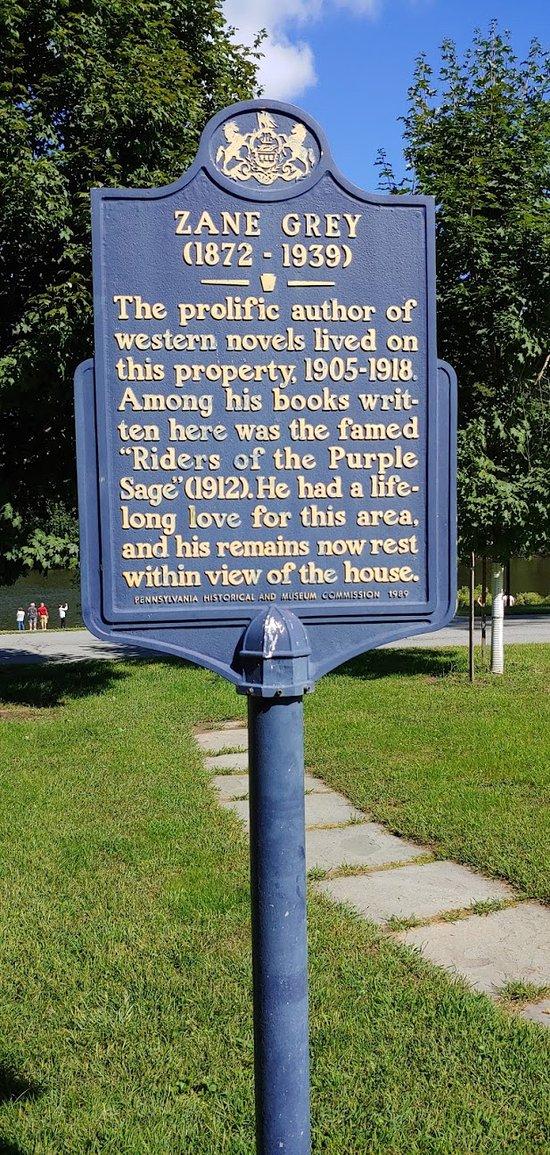 Zane Grey Historical Marker