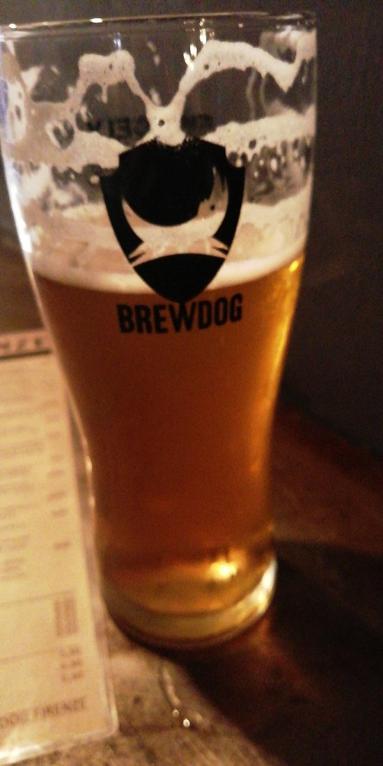 Brewdog beers and a bite to eat
