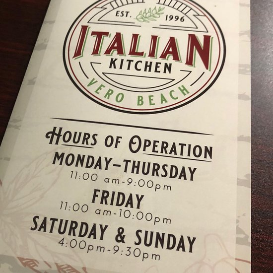 Vero Italian Kitchen: Italian Kitchen, Vero Beach