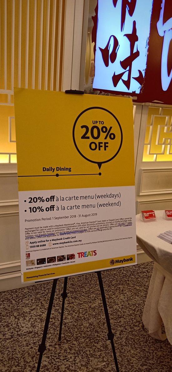 Carte American Express En Chine.Di Wei Chinese Cuisine Subang Jaya Chinese Restaurant Reviews