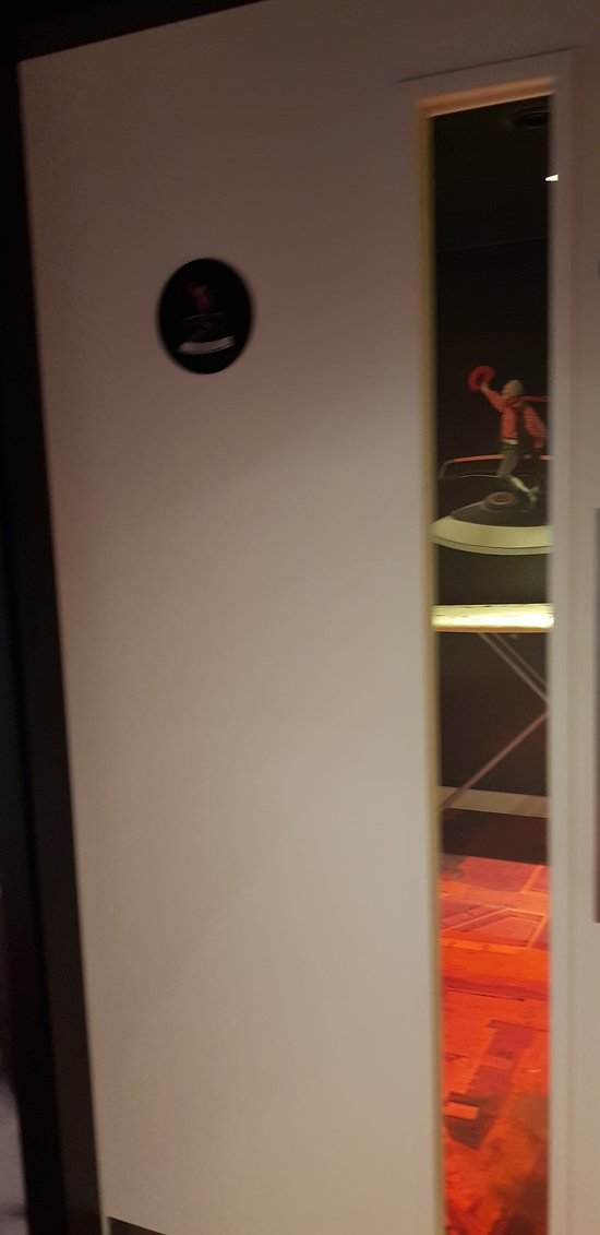 our bedroom is so tiny that they need provide another separate room (near lift) for ironing