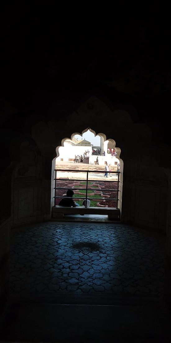 A very nice photo of Anguri Bagh from the window . Design of the floor is worth admiring . GovernoAmolak Rattan Kohli