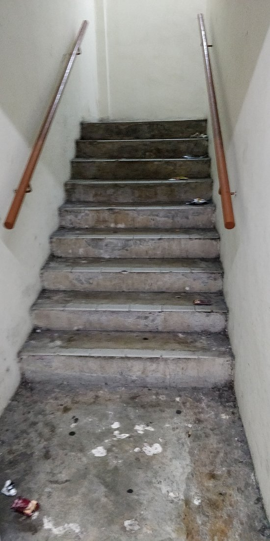 Staircase from Level 6 Car Park to Hotel.