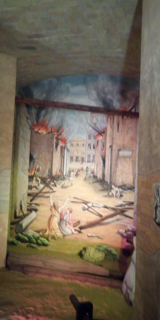Particolare dell'incendio di Roma in tempi meno antichi