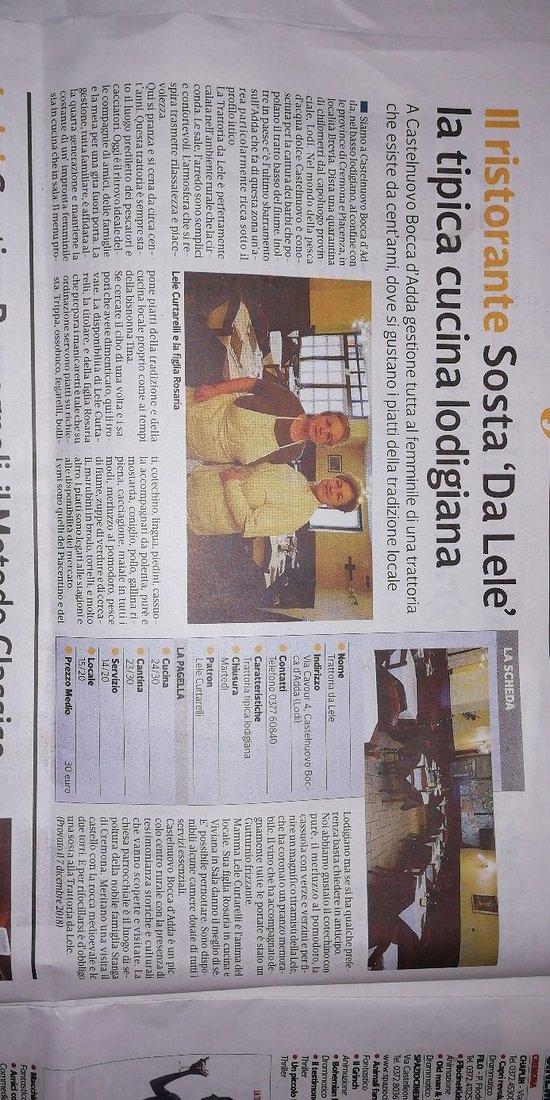 Trattoria da Lele, Castelnuovo Bocca D\'Adda - Restaurant Bewertungen ...