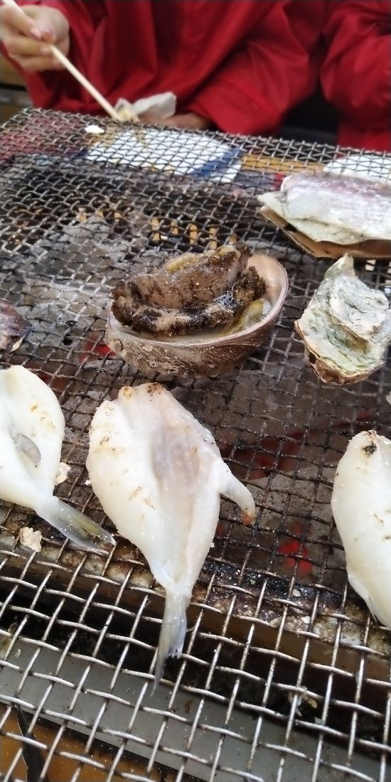 Grilled seafood esp oyster