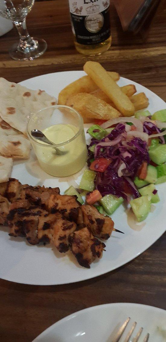 Nice wait staff but very basic Greek food