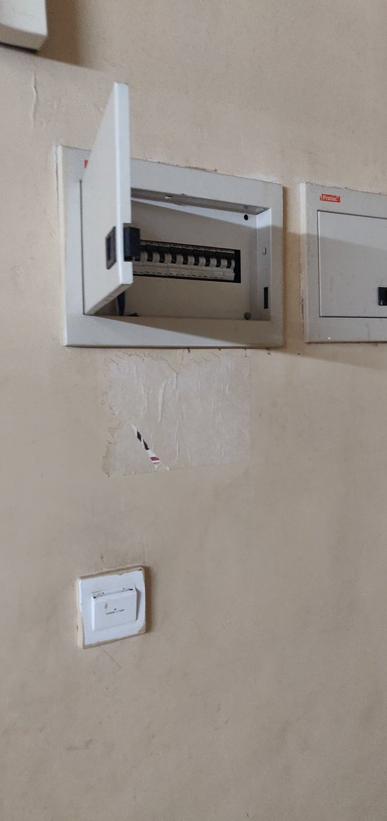 Open Switch board, below key on -off for electricity was not working