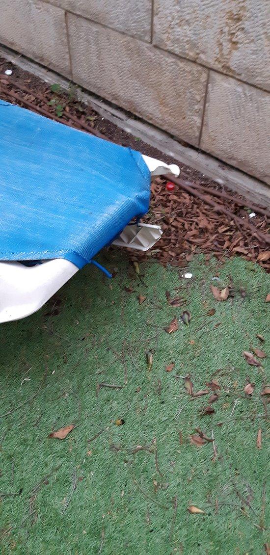 Lounge chair on patio