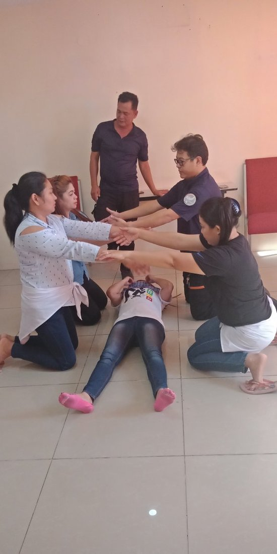 Basic Life Support and First aid Training for Reign Spa employees.