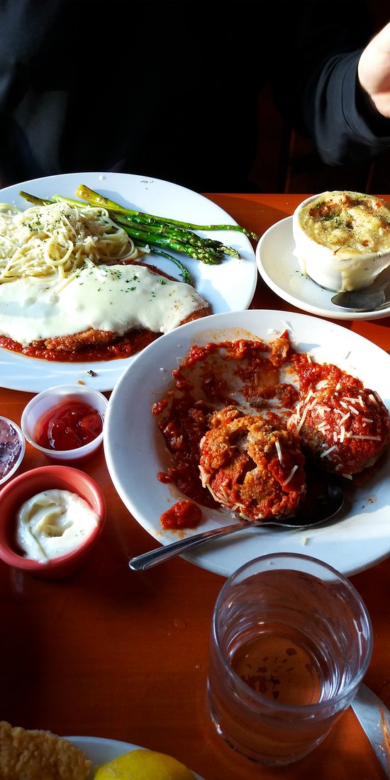 Chicken Parm, Stuffed Meatballs, and French Onion Soup...fit for a king.