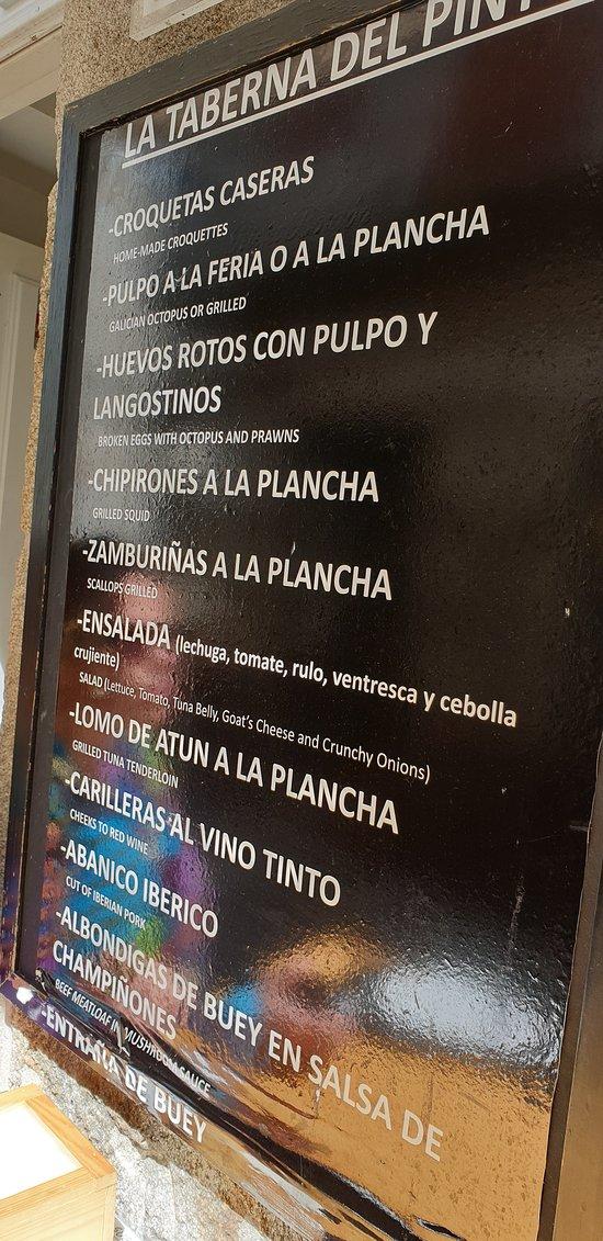 Parte do menu